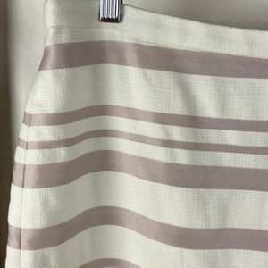 J. Crew Skirts - J. CREW purple white stripe pencil skirt, 10